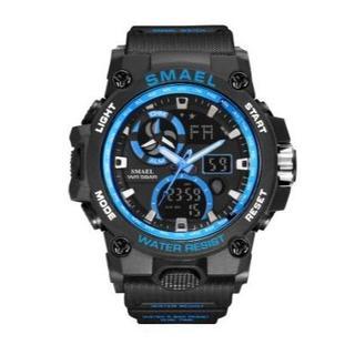 SMAEL 8011 スポーツウォッチ(ブラック・ブルー)(腕時計(デジタル))