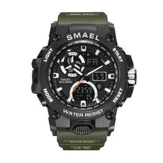 SMAEL 8011 スポーツウォッチ(アーミーグリーン)(腕時計(デジタル))
