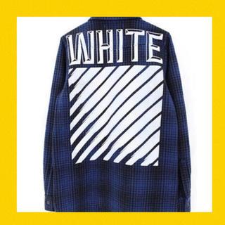 オフホワイト(OFF-WHITE)の本物 正規品 off-white チェックシャツ ブルゾン パーカー tシャツ(シャツ)