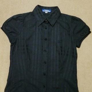 バーバリーブルーレーベル(BURBERRY BLUE LABEL)のみく様専用   美品! ブルーレーベル 半袖シャツ ブラウス ネイビー(シャツ/ブラウス(半袖/袖なし))