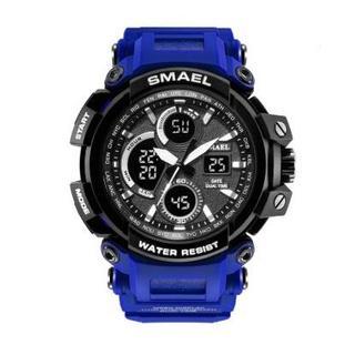 SMAEL 1708 スポーツウォッチ(ブルー)(腕時計(デジタル))