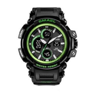SMAEL 1708 スポーツウォッチ(グリーン)(腕時計(デジタル))