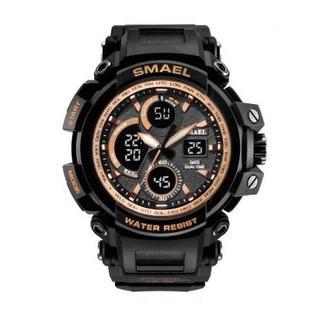 SMAEL 1708 スポーツウォッチ(ゴールド)(腕時計(デジタル))