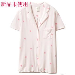 ジェラートピケ(gelato pique)のジェラートピケ ハートモチーフシャツ 新品未使用(ルームウェア)