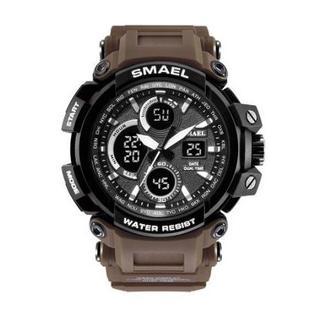 SMAEL 1708 スポーツウォッチ(コーヒー)(腕時計(デジタル))