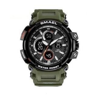 SMAEL 1708 スポーツウォッチ(アーミーグリーン)(腕時計(デジタル))