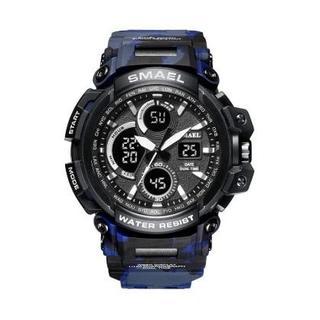SMAEL 1708MC スポーツウォッチ(迷彩タイプ、ブルー)(腕時計(デジタル))