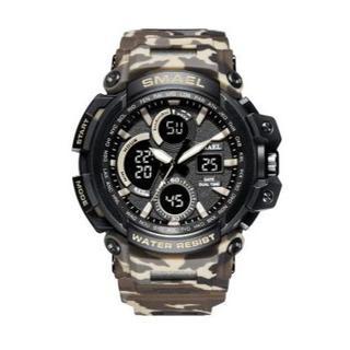 SMAEL 1708MC スポーツウォッチ(迷彩タイプ、カーキ)(腕時計(デジタル))