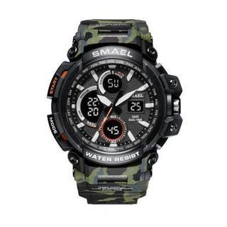 SMAEL 1708MC スポーツウォッチ(迷彩タイプ、アーミーグリーン)(腕時計(デジタル))