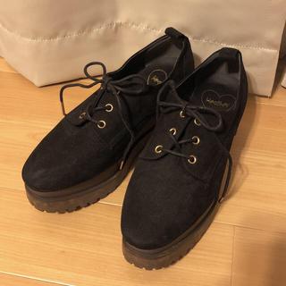ヘザー(heather)のヘザー 厚底ローファー 黒(ローファー/革靴)