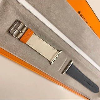 [新品] Apple Watch Hermes 純正ベルト ツートン 44mm
