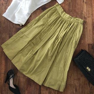 サマンサモスモス(SM2)のラップスカート 巻きスカート ピスタチオカラー SM2(ひざ丈スカート)