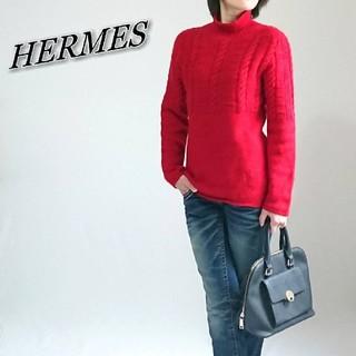 エルメス(Hermes)のHERMES エルメス ニット レッド レディース(ニット/セーター)