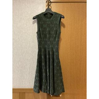 アズディンアライア(Azzedine Alaïa)の新品同様 アライア ドレス カーディガンセット サイズ36(ひざ丈ワンピース)