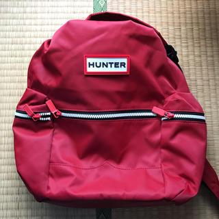 ハンター(HUNTER)のHUNTER リュック 小 赤色(リュック/バックパック)