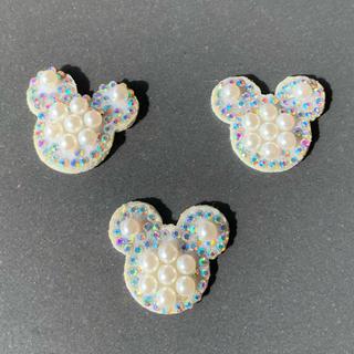 ディズニー(Disney)のミッキー ハンドメイド用チャーム素材(チャーム)