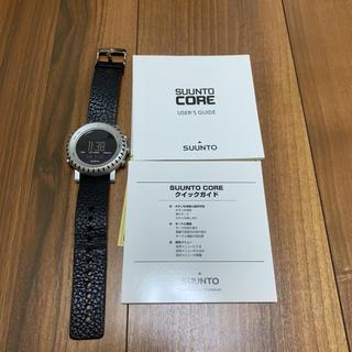 スント(SUUNTO)のスント コア SUUNTO CORE レザーベルト アルミニウムブラック(腕時計(デジタル))