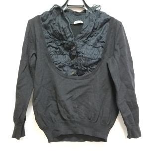 ミュウミュウ(miumiu)のミュウミュウ 長袖セーター サイズ40 M 黒(ニット/セーター)