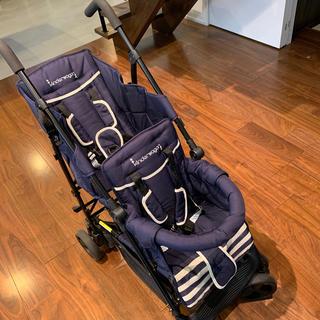 キンダーワゴン(Kinderwagon)の【ももさま専用★】kinder wagon 二人乗りベビーカー(ベビーカー/バギー)