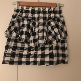 キャンディーストリッパー(Candy Stripper)のチェック ペプラムスカート ミニスカート(ミニスカート)