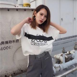エモダ(EMODA)のEMODA×KAPPA コラボTシャツ ホワイト(Tシャツ(半袖/袖なし))