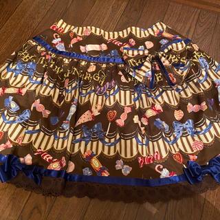 ベイビーザスターズシャインブライト(BABY,THE STARS SHINE BRIGHT)のBonBon chocolate Dance柄スカート(ひざ丈スカート)