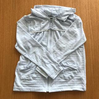 サンカンシオン(3can4on)の3can4on  女の子 薄手パーカー 水色 140(ジャケット/上着)
