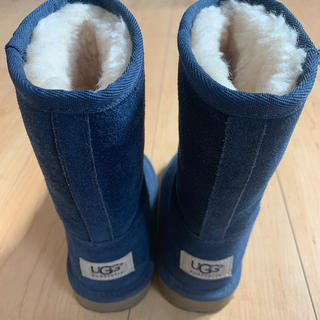 アグ(UGG)の極美品 ネイビーUGG 17cm US 10(ブーツ)