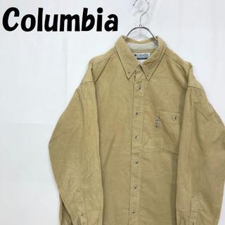 コロンビア(Columbia)の【人気】Columbia/コロンビア コーデュロイ シャツ 長袖 ベージュ L(シャツ)