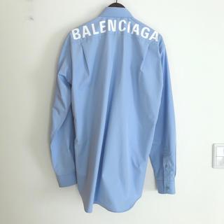 バレンシアガ(Balenciaga)の新品!BALENCIAGA 定番ロゴプリントオーバーサイズシャツ 定価10万円(シャツ)