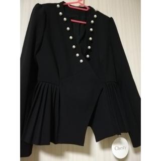 Chesty - 新品 chesty パールプリーツジャケット