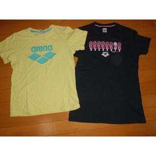 アリーナ(arena)の2枚アリーナarena★XL黒ピンク★L黄色Tシャツ★トレーニングTシャツ(マリン/スイミング)