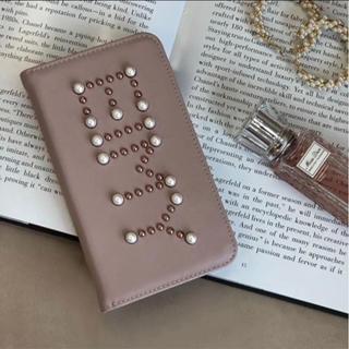 エイミーイストワール(eimy istoire)のeimy スタッズロゴ手帳型iPhoneケース(モバイルケース/カバー)