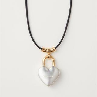 アンブッシュ(AMBUSH)のAMBUSH HEART PADLOCK CHARM NECKLACE(ネックレス)