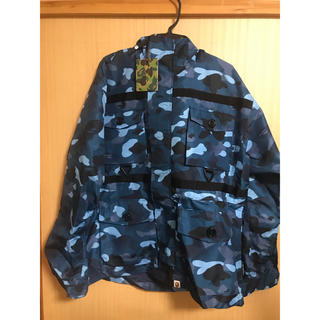A BATHING APE - GRADATION CAMO SHARK MASK JACKET M