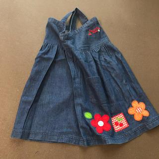 フーセンウサギ(Fusen-Usagi)の90 刺繍 ジャンパースカート(ワンピース)