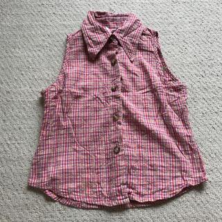 ボブソン(BOBSON)の子供服 キッズ BOBSON シャツ ノースリーブ チェック柄 トップス (Tシャツ/カットソー)