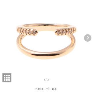 エストネーション(ESTNATION)のヒロタカ Hirotaka Mantaリング ピンキー サイズ2 K10YG(リング(指輪))