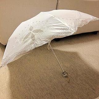 ジバンシィ(GIVENCHY)の上品☆GIVENCHEY ジバンシー 日傘 折りたたみ ホワイト 美品!!(傘)