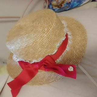 リズリサ(LIZ LISA)のカンカン帽(麦わら帽子/ストローハット)
