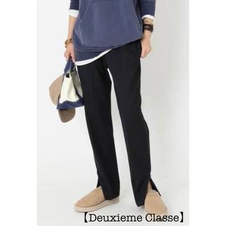 ドゥーズィエムクラス(DEUXIEME CLASSE)の【Deuxieme Classe】新品タグ有 スリットテーパードパンツ 38(その他)