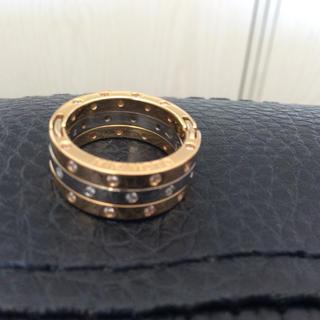ミキモト(MIKIMOTO)のミキモト k18 WG PG 3連 4連 5連 ダイヤリング (リング(指輪))