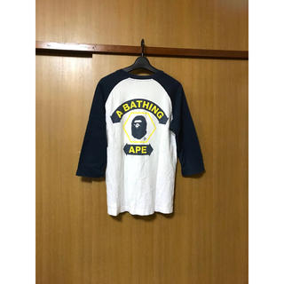 アベイシングエイプ(A BATHING APE)のA BATHING APE ア ベイジング エイプ 7分ラグラン袖 Tシャツ(Tシャツ/カットソー(七分/長袖))