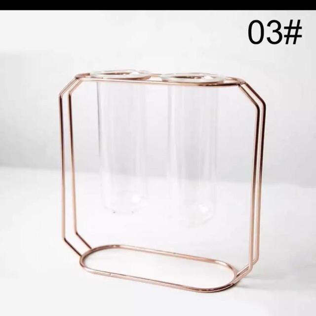 Francfranc(フランフラン)の北欧ゴールデンガラス花瓶❤︎試験管ガラス花瓶 インテリア/住まい/日用品のインテリア小物(花瓶)の商品写真