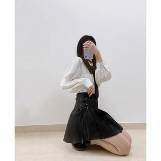 ディーホリック(dholic)のミニスカート レディース プリーツ 編み込みスカート   韓国ファッション(ミニスカート)