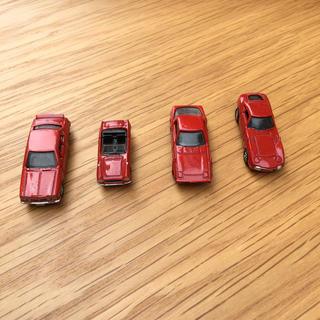 アサヒ(アサヒ)のワンダ 赤のコレクション【4台】(ミニカー)