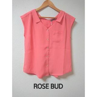 ローズバッド(ROSE BUD)のタグ付き新品! ノースリーブブラウス 7,590円(シャツ/ブラウス(半袖/袖なし))