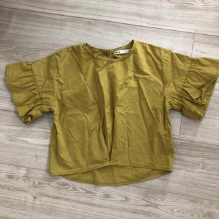 イッカ(ikka)のikka  マスタードイエロー 半袖 五分袖 120 カットソー トップス(Tシャツ/カットソー)