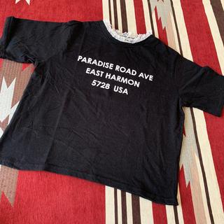 ウィゴー(WEGO)のWEGO BROWNY ヒラヒラレースの半袖カットソー(Tシャツ(半袖/袖なし))