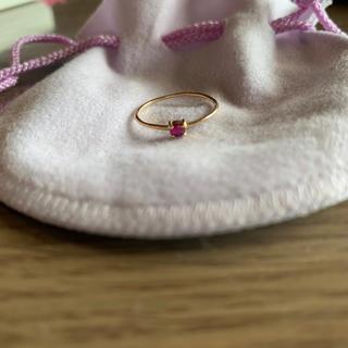 ジュピターゴールドレーベル(jupiter GOLD LABEL)のjupiter ルビー リング 最終値下げ(リング(指輪))